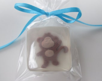 Monkey Favors, glycerin soap favors for your baby shower, birthday