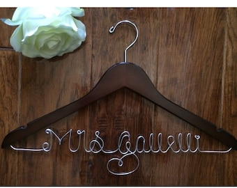 Personalized wedding dress hanger, bride hanger, wedding dress hanger, bridesmaid, gift, custom