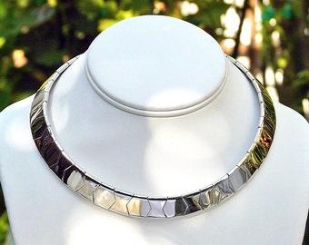 vintage Napier silver tone Cleopatra choker collar