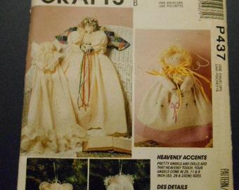 McCalls P437,   Angel Dolls, Ornaments