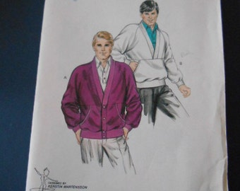 Kwik Sew 1485, Mens Cardigan and Pullover,  size 34 to 48