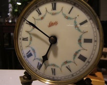SCHATZ domed anniversary clock, china face, ready for restoration, 1949 made in Germany