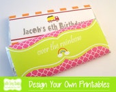 Personalized Chocolate Bar Wraps, Custom Chocolate Bar Wrappers, Custom Chocolate Bar Wrappers, PRINTABLE or PRINTED