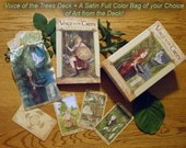 Voice of the Trees Deck and Your Choice of Satin Bag or Tin Combo, Signed by the Artist/Author
