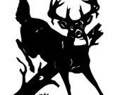 Buck  Jumping Over Log Key Holder Organizer 6 Hooks