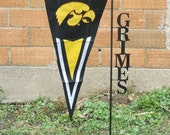 """3' Tall Custom Flag Pole Pennant Holder Holds Up To 15"""" x 36"""" Flag"""