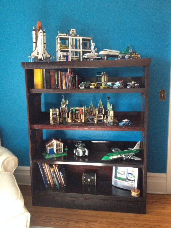 Large bookshelf with deep shelves upcycled by inorder2organize How deep should a bookshelf be