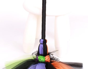 Twinkling Trickster Bitty Broomstick - Halloween Witch Costume Accessory - Infant to Toddler Size