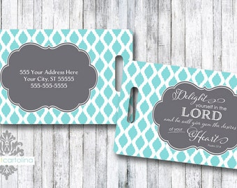 Personalized Bag/Luggage Tag - Scripture - Delight Yourself