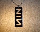 Inspired by NIN Pendant Bead Chain Necklace Stone