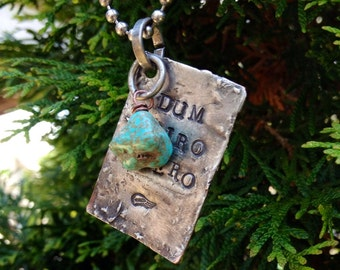 Dum Spiro Spero Necklace, inspirational Latin quote jewelry, Cicero quotes