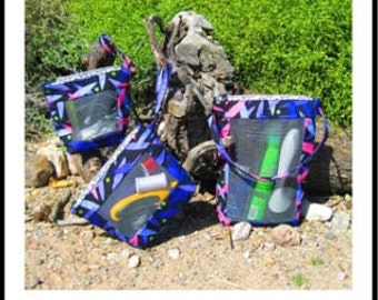 Tote Bag Pattern, Totable Trio, Pattern, Cosmetic bag Pattern, Makeup bag Pattern