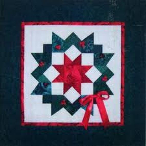 Wall hanging pattern carpenter s wreath holiday quilt