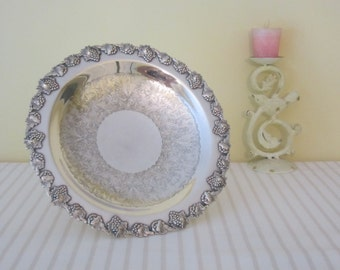 VINTAGE Old Sheffield silver server - tazza, pedestal footed bowl