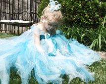 Get Ready for Halloween! Unique Frozen Elsa Tutu Dress Costume Birthday Full Includes Hair Piece Bow Anna Matching
