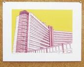 Merrion House Art Print - Leeds Print