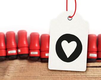 Mini Heart Rubber Stamp