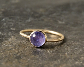 Tanzanite Ring in Solid 14K Yellow Gold