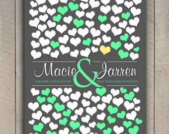 Modern Guestbook Print Poster | Signature Guestbook Poster | BRIDAL GIFT POSTER | 151 Guest Sign In 20x30 | Interactive Art Print _03