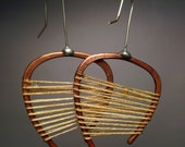 Lobe Earrings- open curve, tension strung