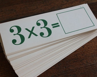 Vintage New Math, Self Teaching Flash Cards - Multiplication No. 2132 (Kenworthy Educational Service Inc.)