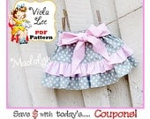 Madalyn.... PDF Toddler Skirt Pattern. Girl's Skirt Patterns. pdf Sewing Pattern, Infant Skirt Pattern. Ruffle Skirt Pattern