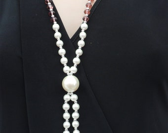Pearls Bead Necklace  hand made nacklace modern jewellery