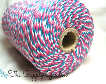 Ombre Baker's Twine - Hot Pink/Turquoise/White