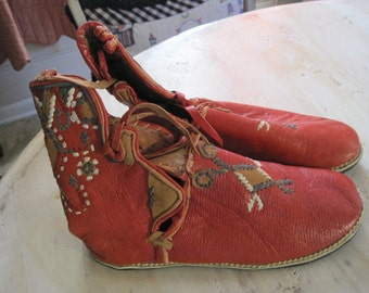 Bavarian hand made leather boots in a size 10