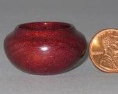 Purple Heart Turned Wood Miniature Pot
