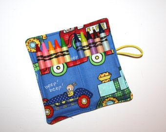 Crayon Rolls, Cars and Trucks Crayon Roll holds up to 10 Crayons,. Crayon Roll PARTY FAVORS, Fire Trucks Trains Race Cars Crayon Roll