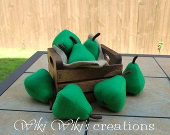 Felt Food Green Pear