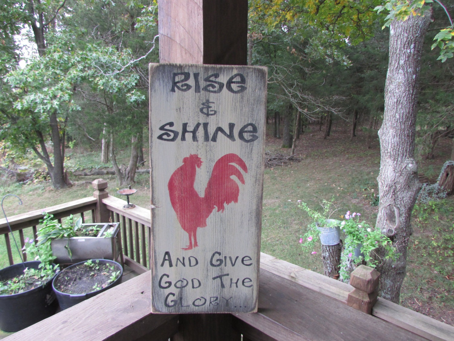 Rooster Wall Decor Kitchen Primitive Country Decor Primitive Rooster Sign Rooster Wall