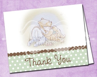 Classic Pooh Folded Thank You Card