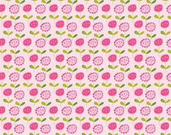 Pink Flower Print Fabric from Riley Blake -Summer Floral C3623