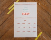 2014 Letterpress Wall Calendar - ON SALE!