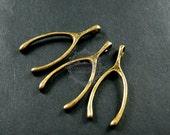 6pcs 18x43mm vintage style antiqued bronze alloy wish bone DIY pendant charm supplies 1810301