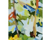 """Original Abstract Landscape Painting, 5 x 7, Acrylic - """"Abstract Garden 2"""""""