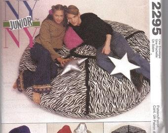 Beanbag Chair Floor Pillows McCalls 2295 McCalls 773 NY NY Junior Pattern