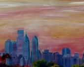 Philadelphia Skyline at Dusk - Limited Edition Fine Art Print