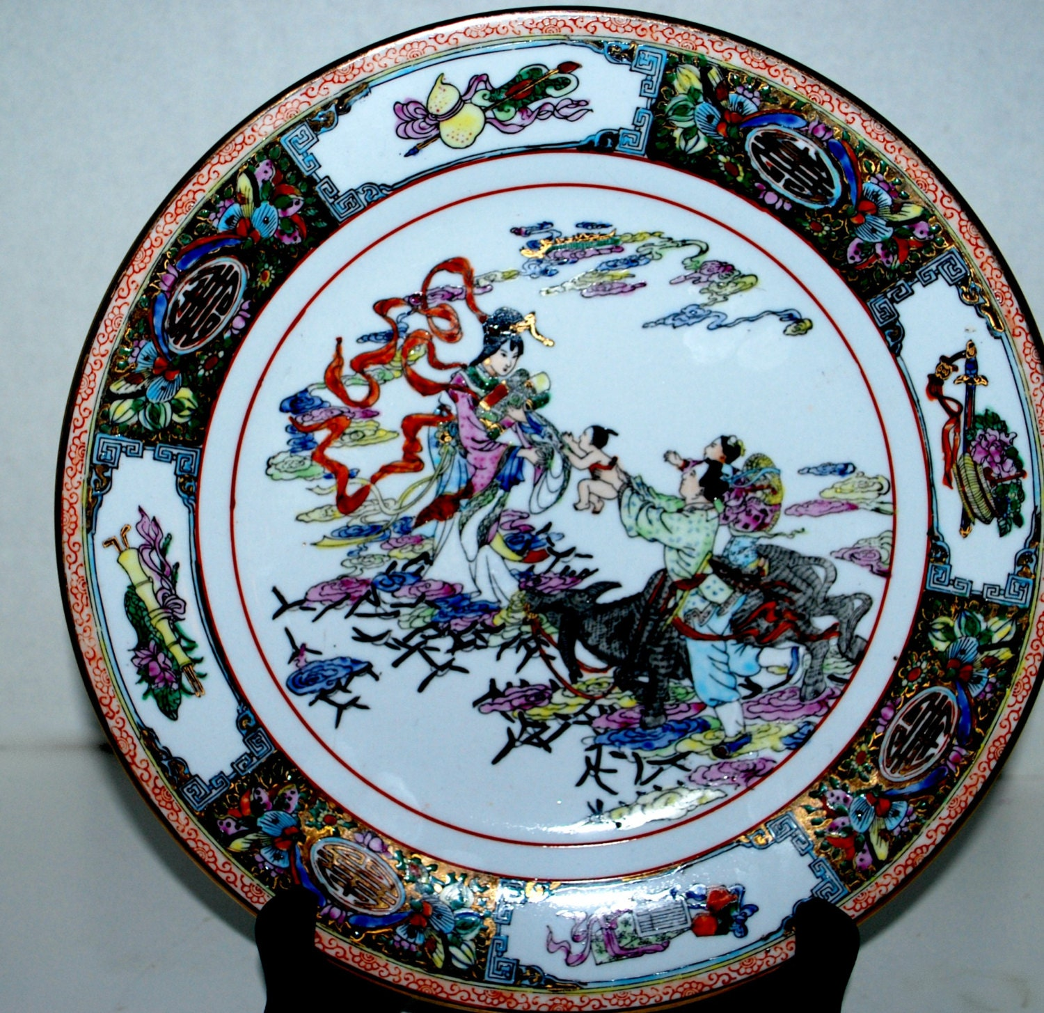 Hand Painted Plates : Sale chinese hand painted plate medallion made in