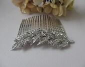Leaf Hair Comb ~ Silver Hair Leaf, With or Without Swarovski Glass Pearls, Handmade Bridal & Wedding Hair Accessories, Boho Weddings