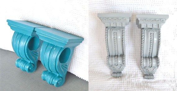 Curtains Ideas corbel curtain rod bracket : CUSTOM Upcycled Curtain Rod Sconces set of 2 wall ledge