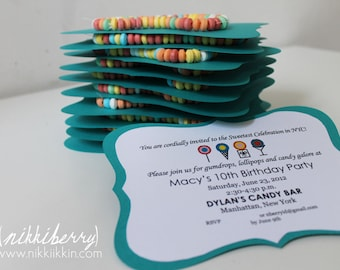 Candy Bar Party Invitations