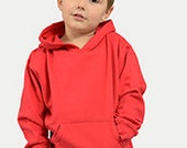 MONAG Hooded Fleece Pullover Navy BLANK Size 8