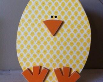 Easter chick egg decor