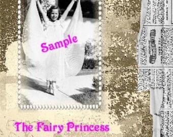 Handmade original collage-Fairy Princess-Digital Download