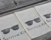 Set of 10 Shades Sunglasses Survival Kit Hangover Kit Muslin Drawstring Bags