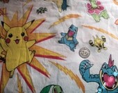 Pokemon - Twin Size - Flannel Bedding (Top & Bottom)