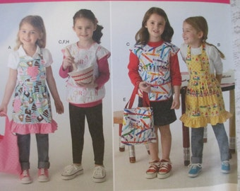 Simplicity Sewing Pattern 2295 A Childs' Aprons, Bags, Potholder, Etc. New UNCUT